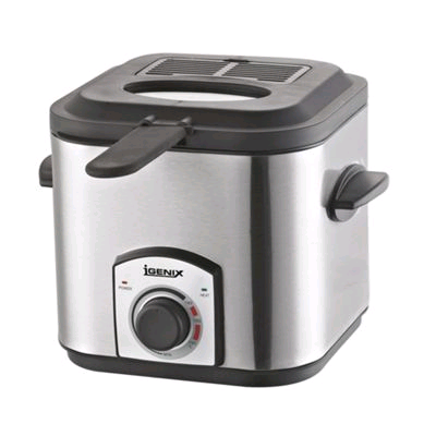 Igenix 1.2Ltr Mini Fryer Brushed Stainless Steel Compact