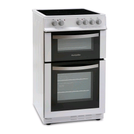 Montpellier Electric Cooker 50cm Ceramic Hob Double Oven Whi