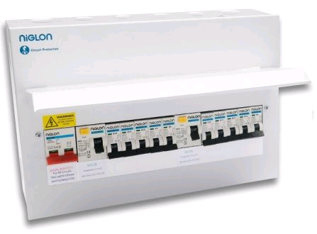 Niglon Metal 17th 6 + 6 Loaded Distribution Board