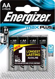 Energizer MAX Plus Power AA Battery 4 Pack