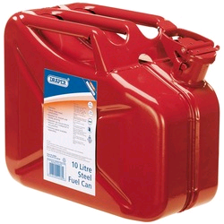 Draper 10ltr Red Steel Fuel Can