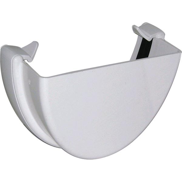 Floplast Hi-Cap External Stop End Guttering White REH1W