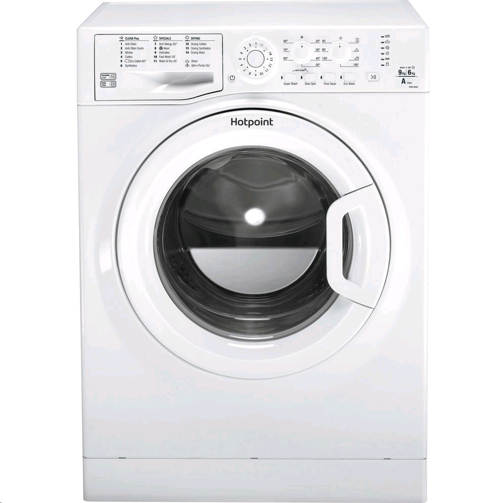 Hotpoint Washer Dryer 9kg 1400 Spin Speed Wash 6kg Dry