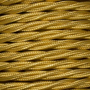 Cable 3 Core Twisted Braided 0.75mm Celtic Gold