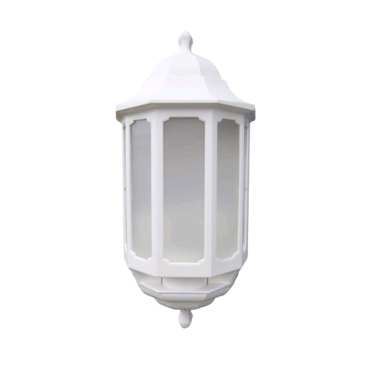 ASD Half Lantern White With PIR