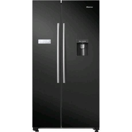 Hisense American Style Fridge Freezer in Black H1780 W900