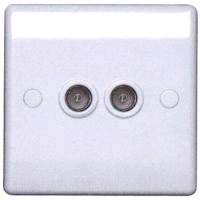 BG 2 Gang Co-axial Socket