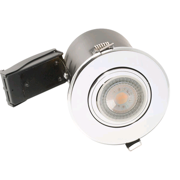 BG GU10 Shower Downlight Fire Rated Chrome