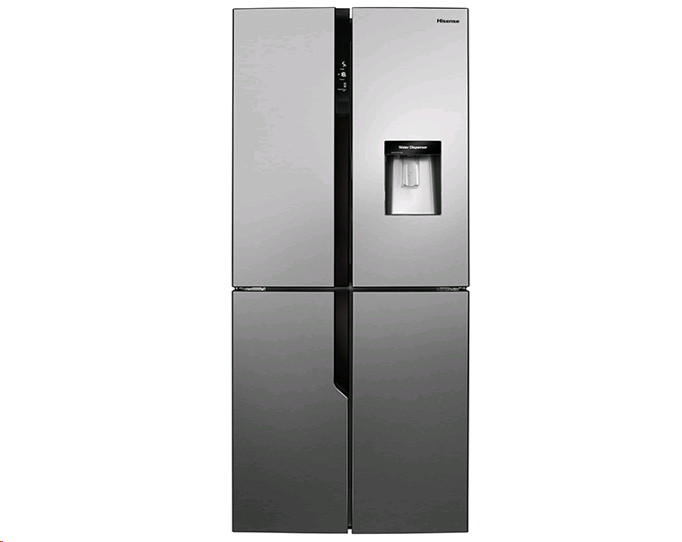 Hisense American Style Fridge Freezer in Stainless Steel