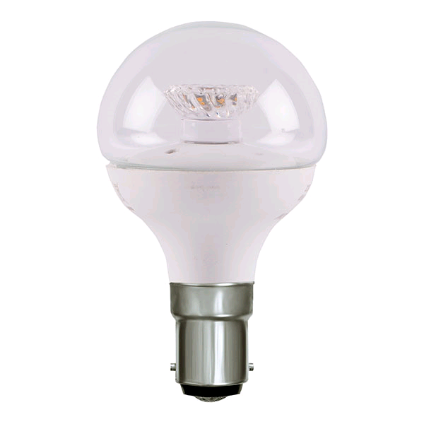 Bell 4w LED SBC Clear Golf Ball Warm White Dimmable
