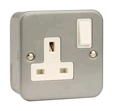 Niglon Metal Clad 1Gang 13A DP Socket Outlet