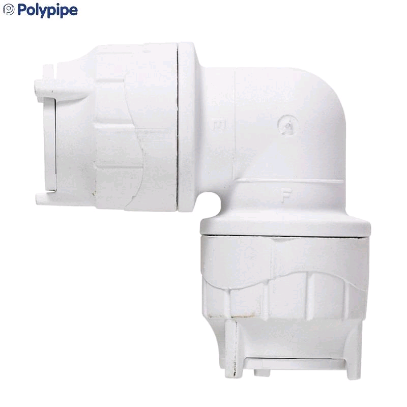 Polypipe PolyFit 28mm Elbow Coupler