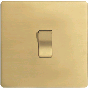 BG 1Gang 2Way Flatplate Polished Brass Switch