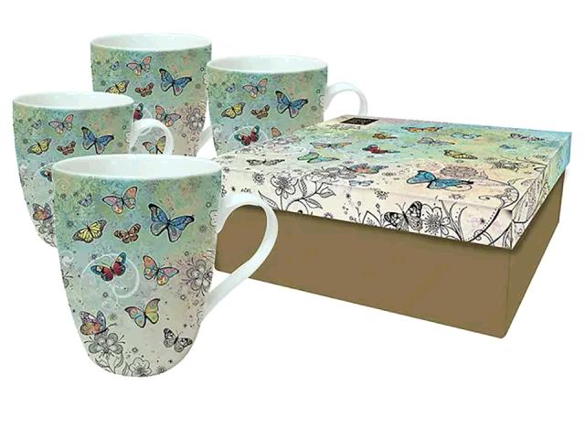 Joe Davies 3340193 Bug Art Mugs Butterflies x 4 BG0084