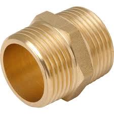 "Brass Hex Nipple 1/2"""