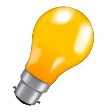 LAMP GLS Amber BC 25w Glazed