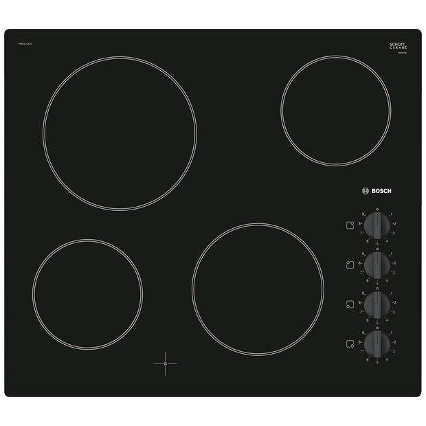 Bosch Ceramic Hob Right Hand Mounted Controls Frameless
