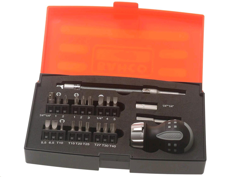 Bahco Stubby Ratchet Screwdriver Set 22Pc
