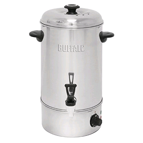 Buffalo GL346 Manual Fill Water Boiler 10Ltr Stainless Steel Catering Urn