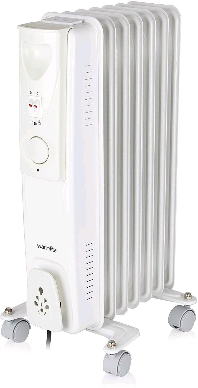 Warmlite 1.5kw Oil Filled Radiator c/w  Adjustable Thermostat & 3 Heat Settings