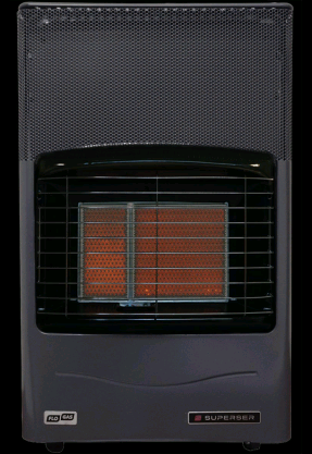 Superser F180 Radiant Heat Portable Gas Heater Cabinet Inc 21mm Clip On Reugulator