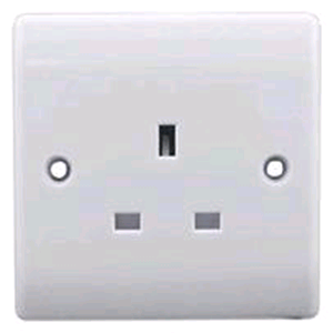 BG 1 Gang 13a Unswitched Socket