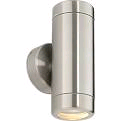 Saxby Atlantis Twin Wall IP65 Brushed Steel Fitting