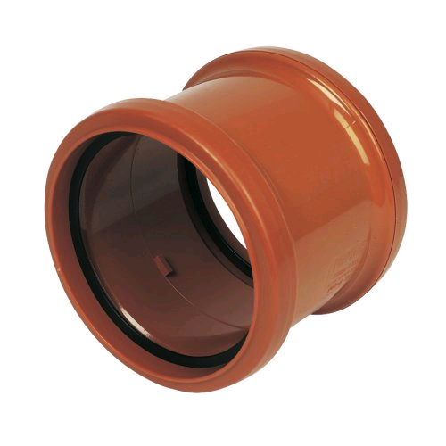 Floplast 160mm Double Socket Coupler 6D105