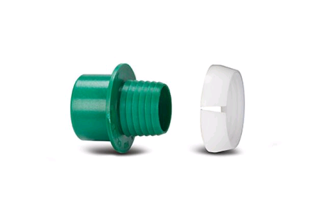 Polypipe Class D Adaptor Set Dark Green 20mm x 1/2""