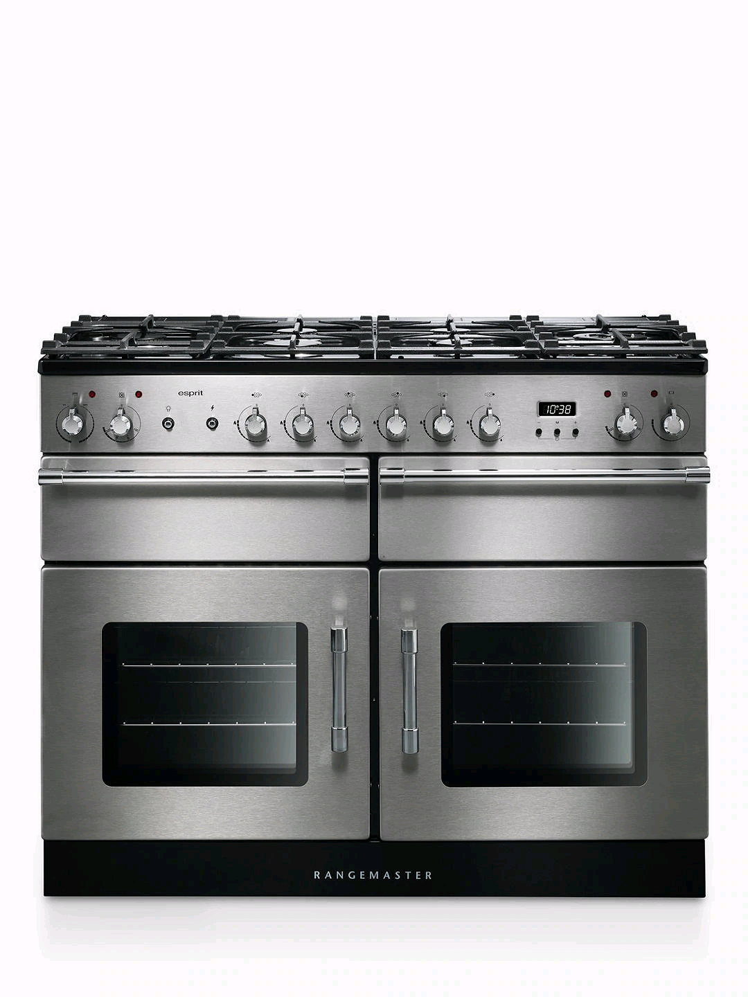 Rangemaster Esprit 110cm Electric Range Cooker Dual Fuel Stainless Steel Chrome