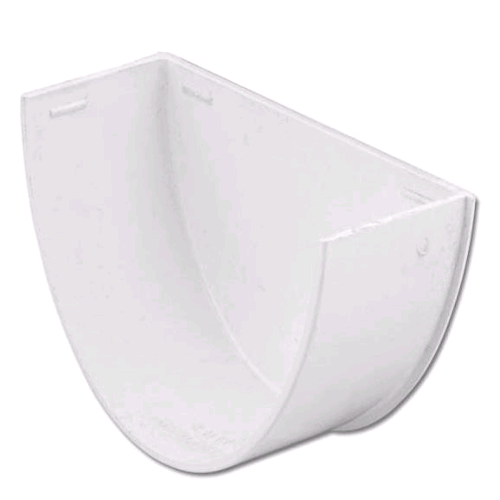 Floplast Hi-Cap Internal Stopend Guttering White REH2W