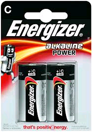 "Energizer Battery 1.5V ""C"" 2pk  S8994"