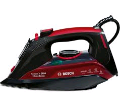 Bosch Sensixx Steam Iron Black and Red 3000w