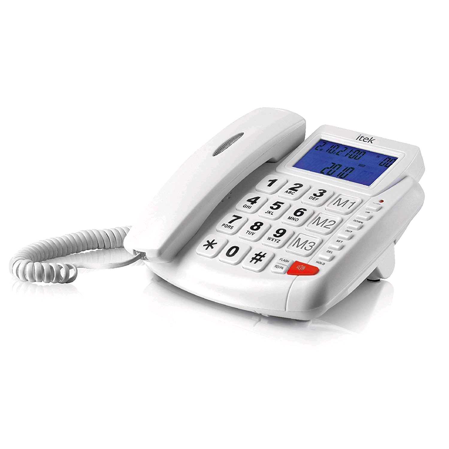 ITEK Big Button Corded Phone LCD Display Hands Free