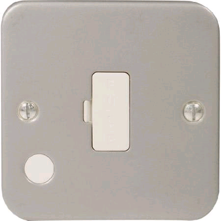 BG Metal Clad 13a Fused Spur Unswitched c/w Flex Outlet