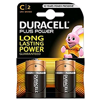 "Duracell S3514 Battery ""C"" 1.5Volt 2pk Alkaline Plus"
