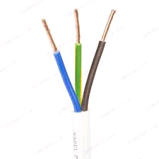 White Flex 2.5mm 3Core Heat Resistant (per mtr)