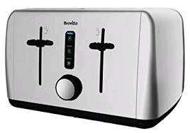 Breville Polished Stainless  Steel 4 Slice Toaster