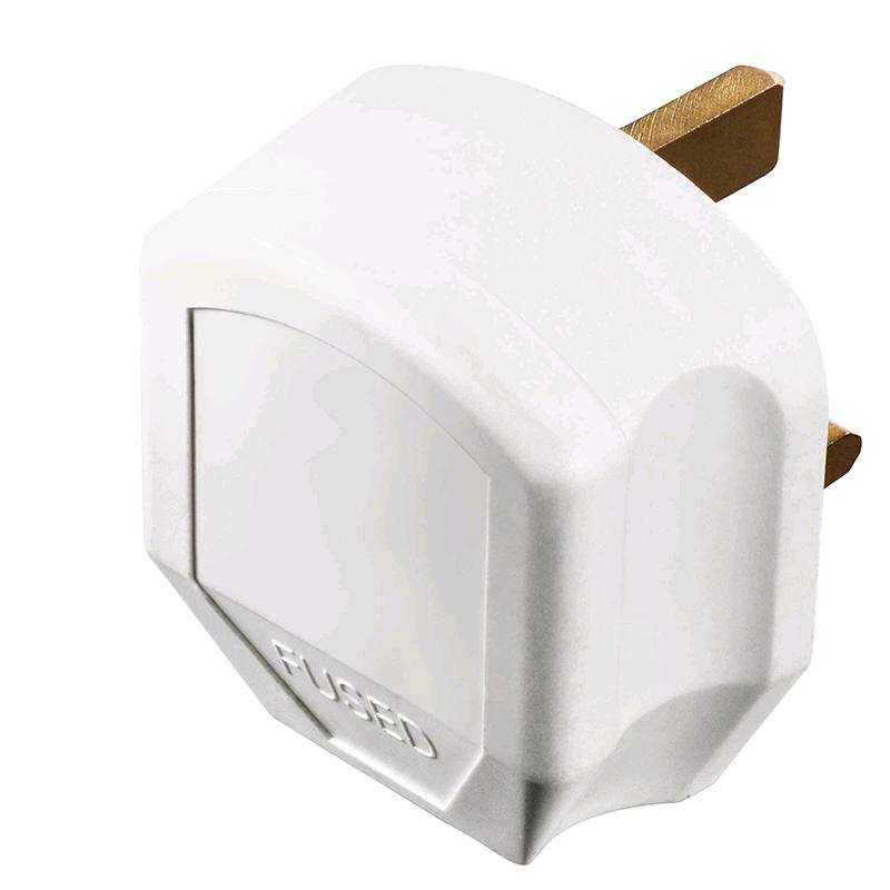 BG Plug 13a Rubber White