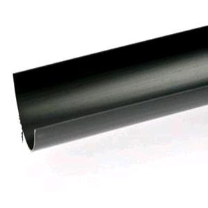 Floplast Gutter 112mm Half Round 4mtr Black