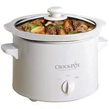 Crockpot White Slow Cooker 2.4 Litre Capacity