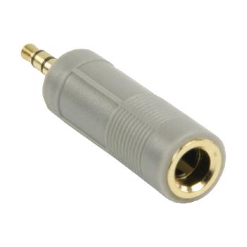 Bandridge Headphone Adaptor 3.5mm Male to 6.3mm Female