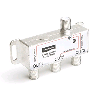 Antiference 3way Splitter Metal 1 in 3 out