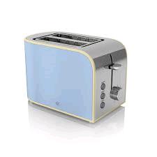Swan 2 Slice Retro Toaster - Blue