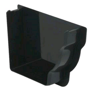 Floplast Niagara Square Gutter Intenal Stop End RH in Black