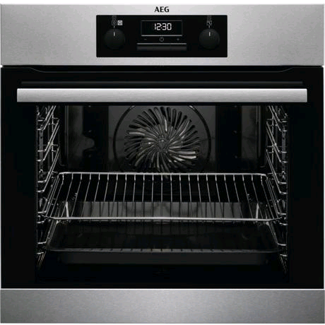 AEG Built-In Electric Steam Bake Single Oven in Stainless Steel H594 W595