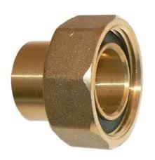 "Brass 22mm x 1"" Gas Meter Union + Washer"