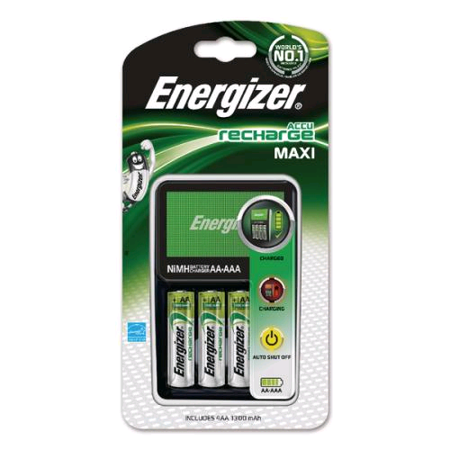 Energizer 1Hr Charger c/w 4 x AA 1300mA Batteries
