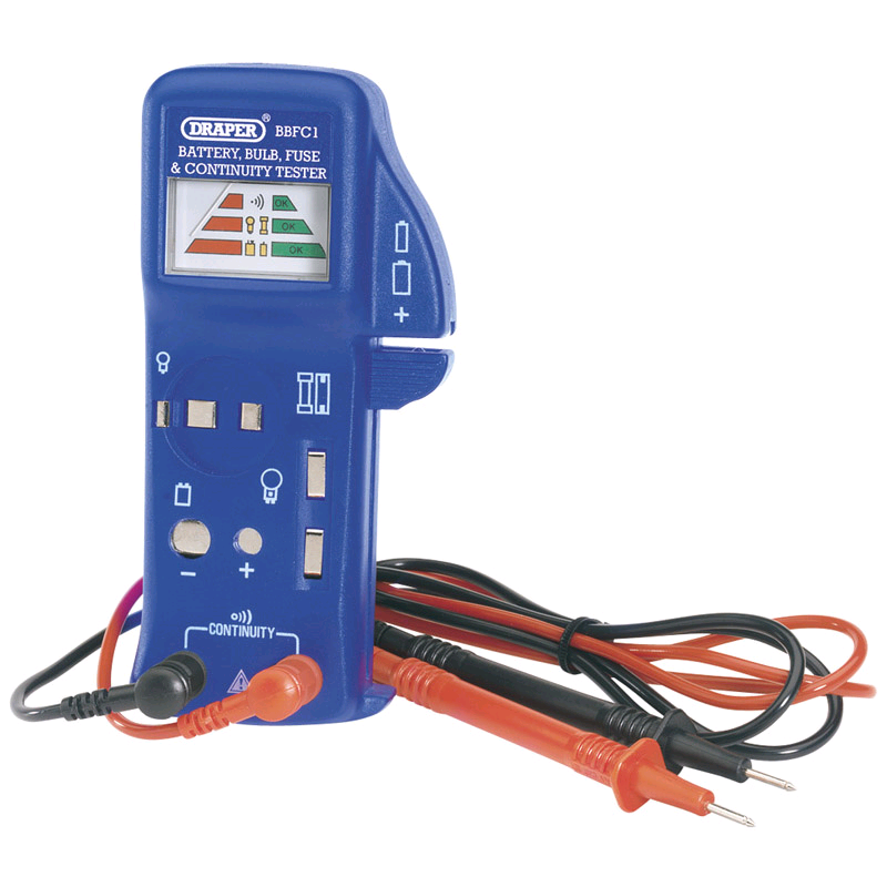 Draper Battery/Bulb/Fuse Continuity Tester