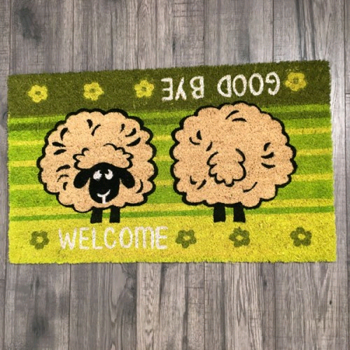 Dandy Kentwell Bleached Sheep Design Indoor/Outdoor Mats 75x40cm